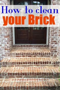 How to Clean wood or brick deck or entrance. Use the HomeRight flow through broom to clean brick or wood with scrubbing broom and with water jet nozzles.