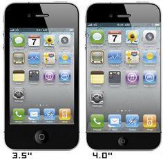 bigger screen size : iphone 5