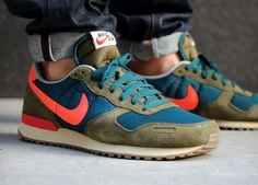 Nike Air Vortex olive and orange