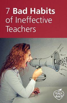 The 7 Bad Habits of Ineffective Teachers ineffective teacher habits Classroom Behavior, School Classroom, Classroom Management, Classroom Ideas, Behaviour Management, Class Management, Classroom Discipline, Classroom Expectations, Music Classroom