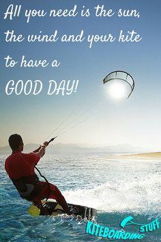 Sun + Win + Kite = HAPPY DAY! #kiteboarding #kitesurfing #happiness #lifestyle