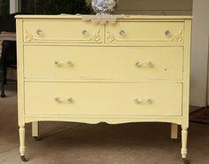 Huckleberry Lane: Cheerful Antique Yellow Dresser