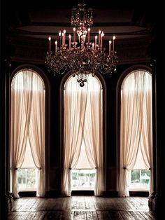 Light and shade and crystal chandeliers