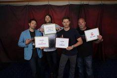 """We <3 you Lisa!"" ||| Misha, Jared, Jensen, and Clif ||| Supernatural Dallas Con 2014"