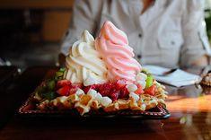frozen yogurt w/ waffles... can it get any better?