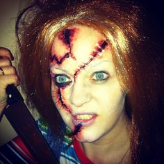 girlshue - 15 Scary Halloween Face Make Up Looks & Ideas 2012 ...