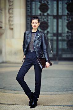 Larissa Hofmann after Chanel haute couture, Paris, January 2014 #streetstyle