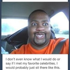 I met my favorite celebrities @Hannah Birmingham  I FOUND MY FANGIRL FACE XD