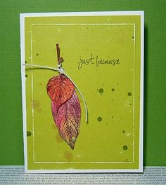 Pretty fall card designed by a|s Creative Consultant, Chrstina Franco. #cardmaking #stamping