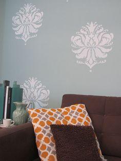 Stenciled Accent Pillows http://www.cuttingedgestencils.com/furniture-craft-stencil-pattern.html