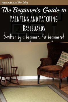 Patching and Painting Baseboards Tutorial by Just a Girl and Her Blog