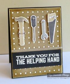 Let's Tool Around, Horizontal Stitched Strips Die-namics, Let's Tool Around Die-namics, Pegboard Cover-Up Die-namics - Melody Rupple #mftstamps