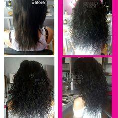 Curly hairweave verlenging