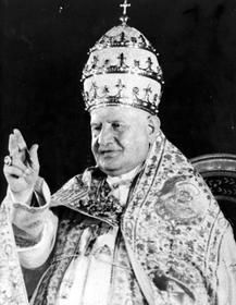 """While much of the focus of Sunday's dual canonization will be on the globe-trotting, 26-year papacy of Pope John Paul II and his near-record sprint to sainthood, many older Catholics will be celebrating the short but historic pontificate of the """"Good Pope,"""" John XXIII."""