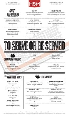 To serve or be served...  hom | burgers