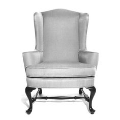 BRIGHT CHAIR QUEEN ANNE 706 WING CHAIR W: 34   D: 32   H: 45.5 Arm Height: 25.25 Seat Height: 21 Yardage 6 Yds. COM 119 Sq. ft. COL. - Find this and many other chair options for your design project at Ernest Gaspard & Associates | Atlanta, GA