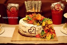 "She has ""fall""en in love! A Fall Themed Bridal Shower 