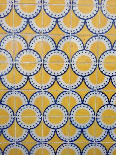 Popular tile in Portugal #tile wonderful yellow!