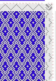 Hand Weaving Draft: Page 127, Figure 17, Donat, Franz Large Book of Textile Patterns, 8S, 8T - Handweaving.net Hand Weaving and Draft Archive