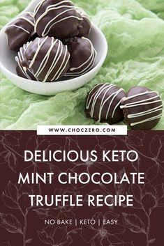 These yummy mint chocolate chip truffles are the keto-friendly, low carb, sugar free dessert you've been searching for! No baking required, you can whip these up in no time to share with the whole family. Keto dessert recipe. Best truffle recipe. ChocZero creates healthier treats with quality ingredients. Enjoy keto-friendly, sugar-free chocolate and syrup that tastes incredible. Enjoy our low-carb, keto, gluten-free, and sugar-free recipes that use our delicious keto chocolate and syrups. Mint Chip Ice Cream, Chocolate Chip Ice Cream, Keto Chocolate Chips, Sugar Free Chocolate, Chocolate Truffles, Quick Keto Dessert, Healthy Dessert Recipes, Keto Recipes, Sugar Free Desserts