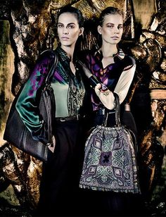 Aymeline Valade, Elisabeth Erm, Sung Hee Kim, Ton Heukels, Andres Risso & Nan Fulong for Etro Fall/Winter 2013/2014 by Mario Testino