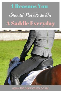 It is so easy to ride your horse in a saddle every day but how often do you leave the saddle in the tack room? here are 4 reasons why riding bareback has advantages for you and your horse. Bareback Riding, Horse Exercises, Horse Riding Tips, Sore Muscles, Show Jumping, Horse Training, Horse Care, Ponies, Tack