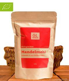 Bio Mandelmehl, teilentölt, aus Süßmandeln, Ölwerk, 325g