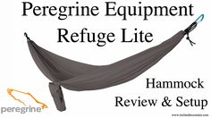 Peregrine Equipment Refige Lite Hammock Review  sc 1 st  Pinterest & Peregrine Equipment Endurance 3 Tent Review   Gear   Pinterest ...