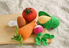 Légumes de crochet de hochets pour bébés lot de 5 par FrejaToys