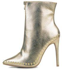 df1c02c21cf Women s Giselle Gold Heeled Booties