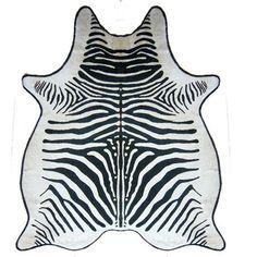 Zebra Printed Cowhide