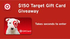Dropprice $150 Target Gift Card #Giveaway Ends 10/17 - Heartbeats~ Soul Stains http://heartbeatssoulstains.com/dropprice-150-target-gift-card-giveaway-ends-1017/
