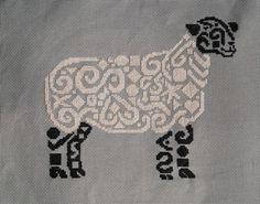 Tribal Sheep Cross Stitch - White Willow Stitching Cross Stitch - (Powered by CubeCart)