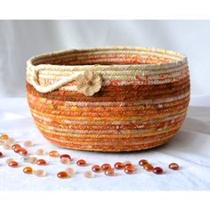 Thanksgiving Decoration, Fall Indian Corn Bowl, Handmade Mosaic... ($50) ❤ liked on Polyvore featuring home and kitchen & dining