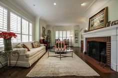 This #livingroom is at 5334 Waneta Drive in the Greenway Parks area of #Dallas. At the time of this pinning, the #luxury home was being marketed by Stephen Collins of Dave Perry-Miller Real Estate. @shoot2sell