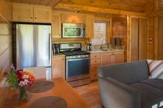 Really nice kitchen in this 392 sq. ft. Modern Tiny Cabin: http://tinyhousetalk.com/392-sq-ft-escape-cabin/ ...via.... https://www.facebook.com/photo.php?fbid=739165739440769&set=a.144253718931977.25018.117537014936981&type=1&theater