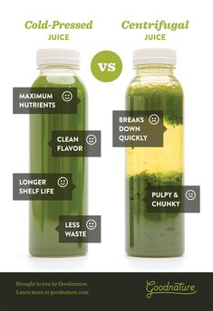 If you've been researching juicers, you've probably seen the words Masticating, Centrifugal, and Cold Press. Fresh Juice Recipes, Cold Press Juice Recipes, Fresh Juice Bar, Juice Branding, Juice Packaging, Juicer Recipes, Cleanse Recipes, Juicing Vs Smoothies, Hurom Juicer