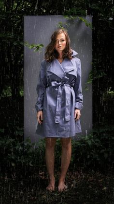 BRGN by Lunde & Gaundal,  Yr Coat, Cashmere Blue Cashmere, Raincoat, Shirt Dress, Blue, Shirts, Dresses, Women, Fashion, Rain Jacket