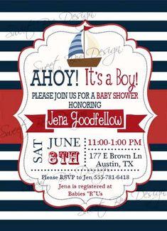 Nautical Baby Shower Invitation Baby by SweetBeeDesignShoppe, $12.00