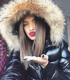 Down Puffer Coat, Down Coat, Moncler Jacket Women, Nylons, Duck Down Jacket, Puffy Jacket, Jackets For Women, Winter Gear, Winter Fun