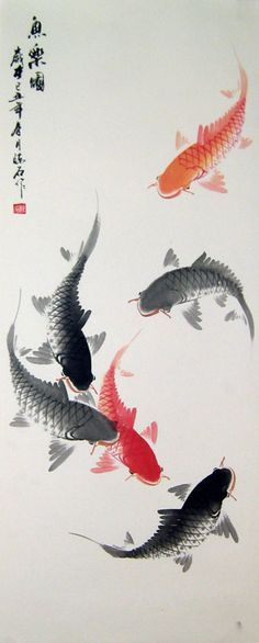 Chinese fish paintings - Fishes More