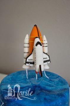 Fondant Space Shuttle by FondantlybyMarile on Etsy