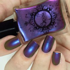 "~ Shyster~ dark plum/violet/gold multichrome Spell nail polish ""Revenge of the Duds""! / Spell Polish"