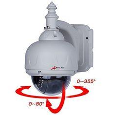 ANRAN 1200TVL Sony CMOS Sensor Pan Tilt(355 degree/80 degree) PT Dome Security CCTV Camera High Resolution Waterproof IR Day Night Vision Surveillance CCTV Camera 6mm RS-485 control