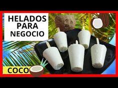 HELADOS DE COCO/ DELICIOSOS HELADOS CASEROS CREMOSOS DE COCO/ COMO HACER... Healthy Snacks, Healthy Recipes, Make Ice Cream, Churros, Youtube, Banana Bread, Food And Drink, Mugs, Tableware