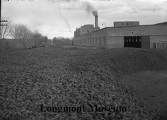Sugarbeet factory. The stuff laying on the ground are actually the beets that were grown from the local farms.