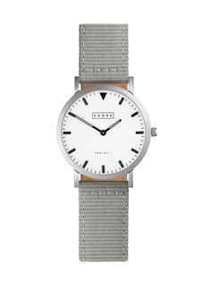 Poole Watch With Grey Classic Strap