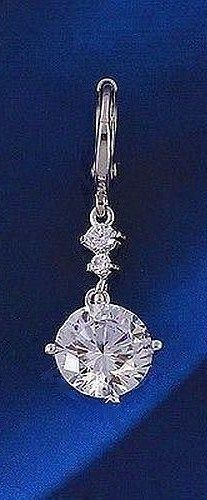 18K WHITE GOLD ON SILVER 3 CARAT 9MM SIMULATED MOISSANITE PENDANT+FREE CHAIN   #Unbranded #PendantwithFREENecklace