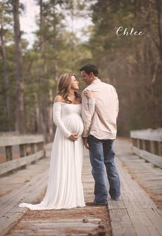 Miriam Gown - Soft Elegant Heavy Knit Long Sleeve Maternity Gown