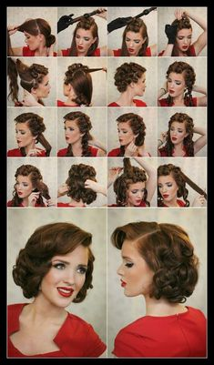 17 Ways to Make the Vintage Hairstyles | Retro hairstyles, Retro ... | WomanAdvise - WOMANADVISE.COM
